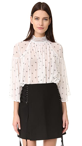 Acler Oxford Blouse - Bead Print