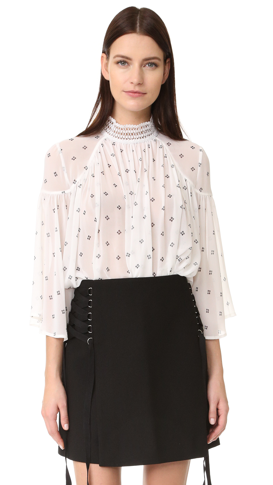 Acler Oxford Blouse - Bead Print at Shopbop