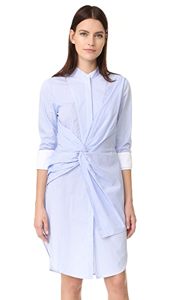 Acler Rowe Stripe Shirtdress - Blue Stripe