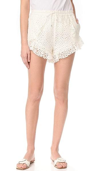 Acler Upton Shorts - Ivory