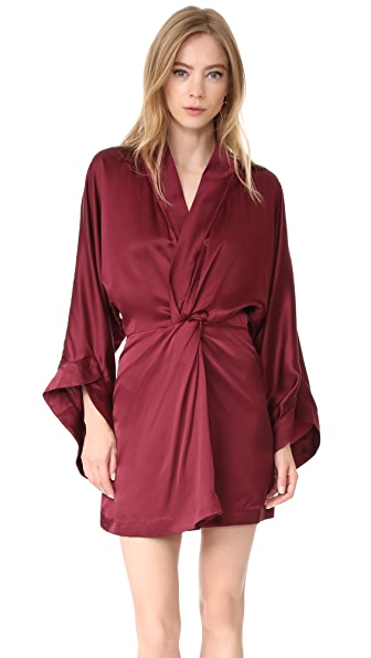 Acler Eden Silk Dress - Plum