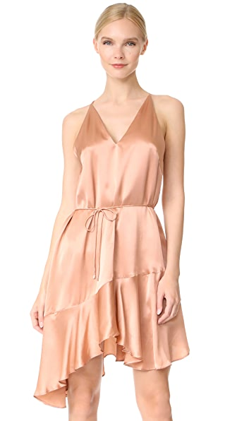 Acler Richie Silk Dress - Salmon
