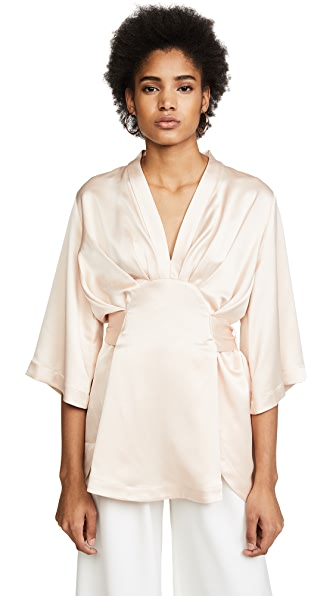 Acler Harrow Blouse In Champagne