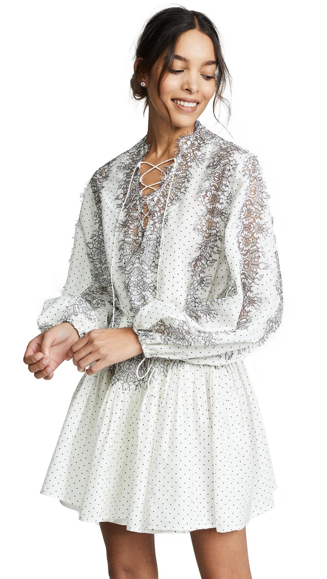 ACLER Avery Dress in Polka Ivory