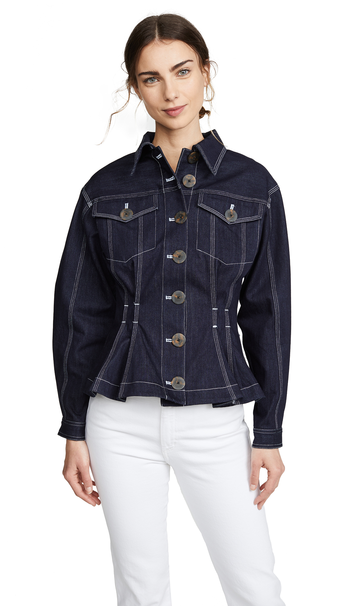 Acler Priestly Denim Jacket - Dark Navy