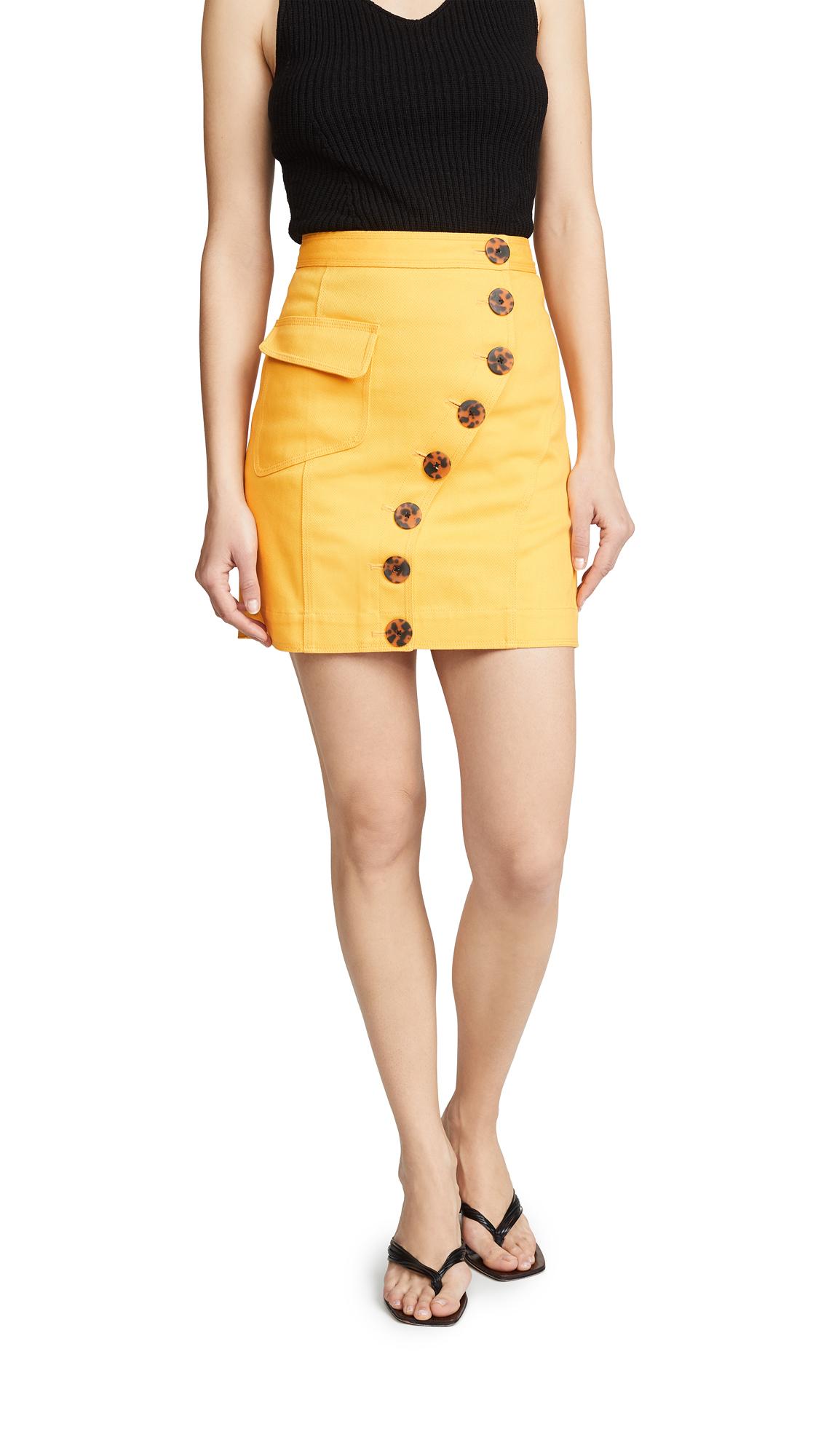 Acler Golding Denim Skirt - Marigold