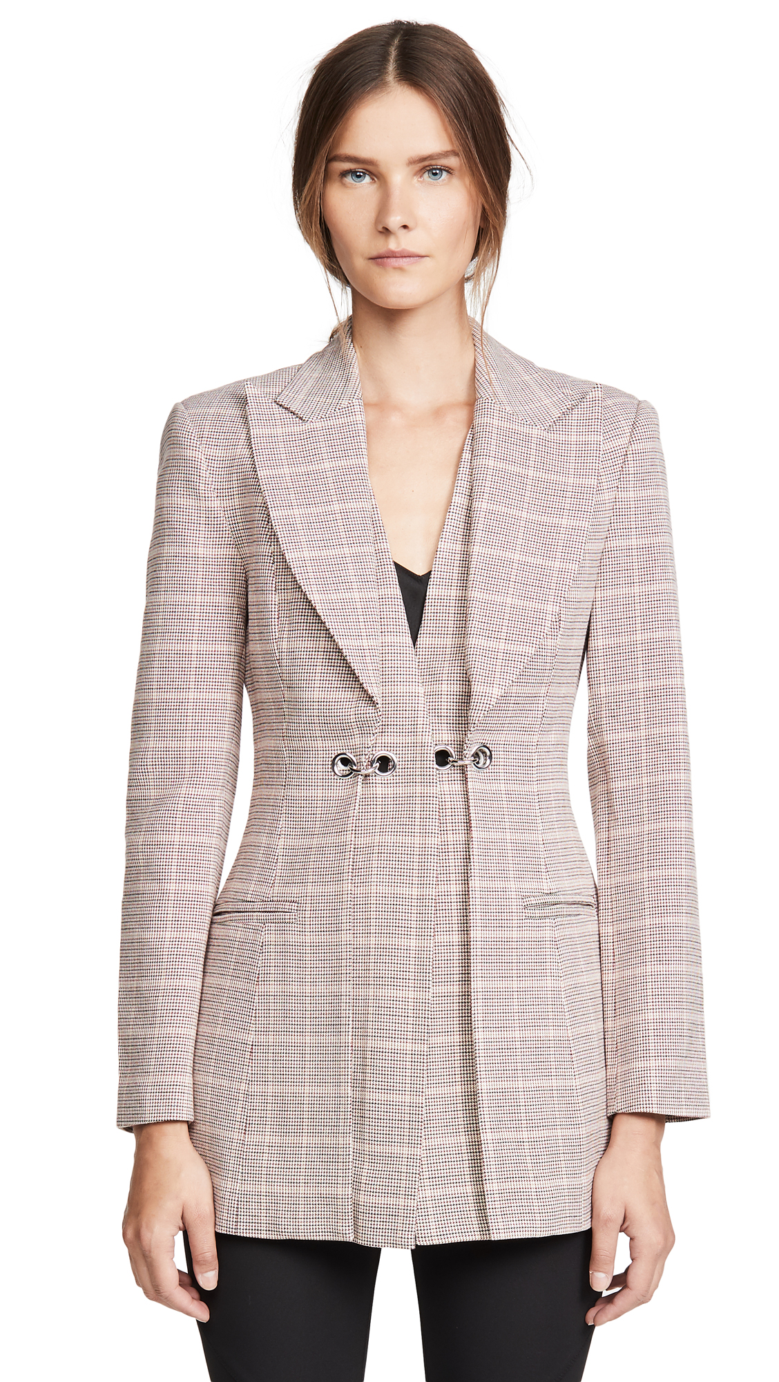 Acler Fairfax Blazer - Clay Check