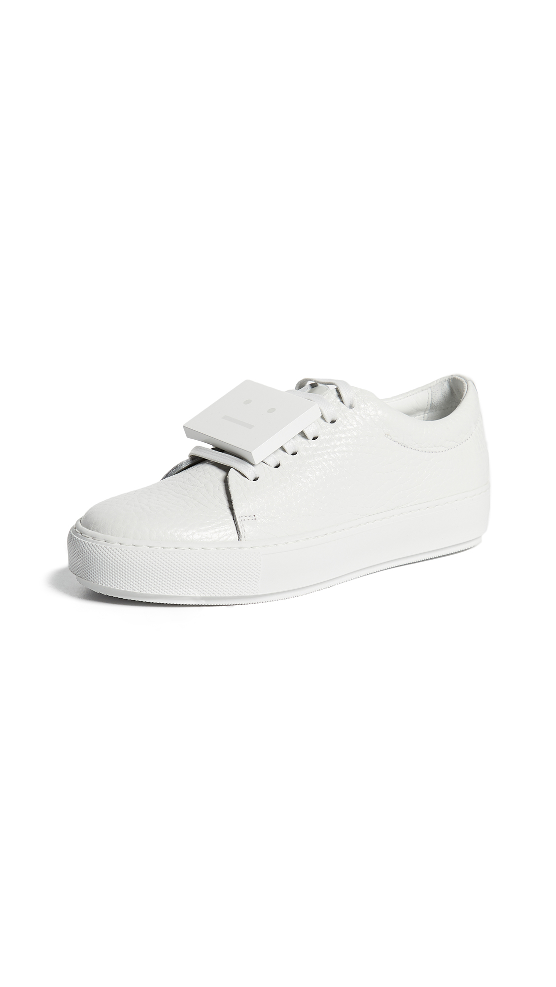 Acne Studios Adriana Grain Sneakers - White