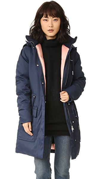 Acne Studios Alston Tech Coat - Navy at Shopbop