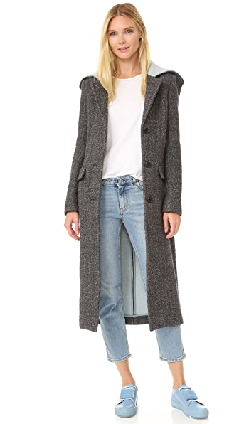 Acne Studios Andela Melange Coat - Black/White Ice Melange at Shopbop