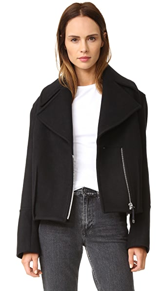 Acne Studios Anson Melton Coat - Black at Shopbop