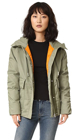 Acne Studios Asa Tech Coat - Khaki at Shopbop