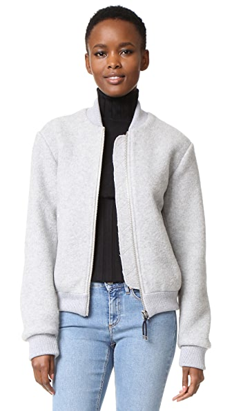 Acne Studios Azura Blanket Bomber Jacket - Grey/Navy at Shopbop