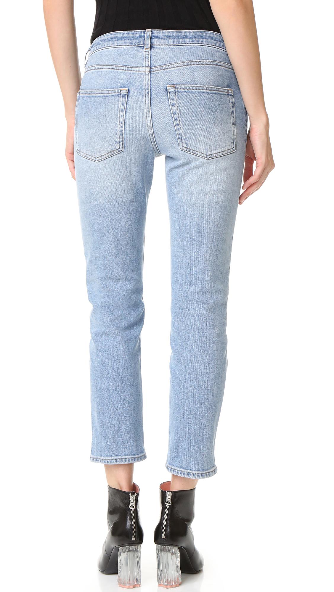 acne row jeans