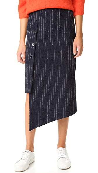 Acne Studios Pate Pinstripe Skirt - Navy/White Stripe at Shopbop