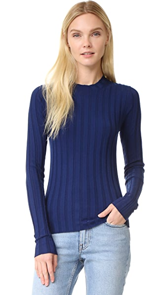Acne Studios Carin Ribbed Merino Sweater - Navy at Shopbop