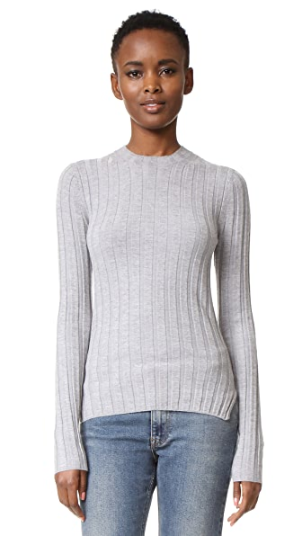 Acne Studios Carin Ribbed Merino Sweater - Silver Grey at Shopbop
