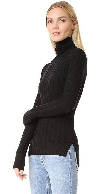 Acne Studios Corin Ribbed Merino Turtleneck Sweater