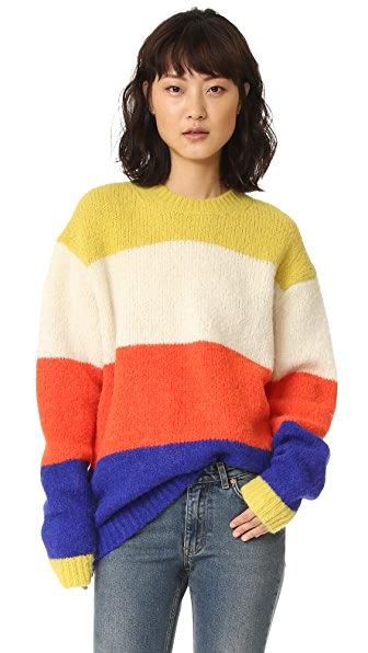 Acne Studios Alvah Alpaca Sweater - Straw Yellow Multi Stripe at Shopbop