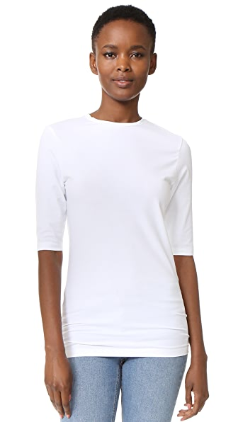 Acne Studios Idena C 3/4 Tee - Optic White