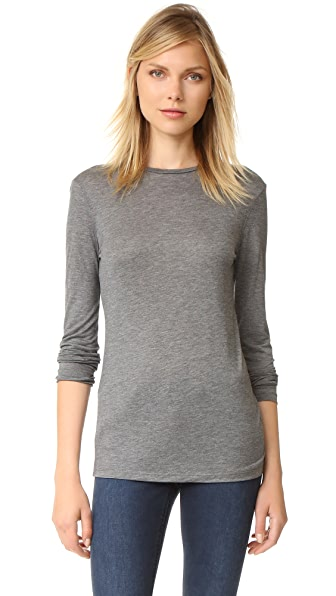 Acne Studios Marisol Tencel Tee - Dark Grey Melange at Shopbop