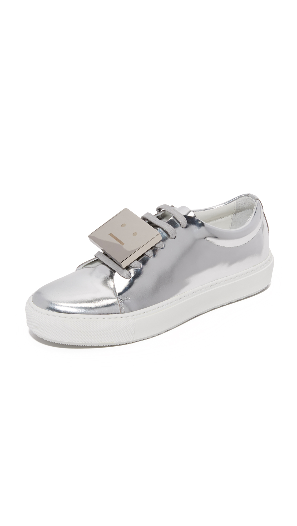 Acne Studios Adriana Metallic Sneakers - Silver at Shopbop