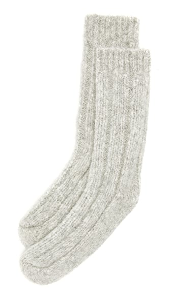 Acne Studios Annie Alpaca Socks - Silver Grey at Shopbop