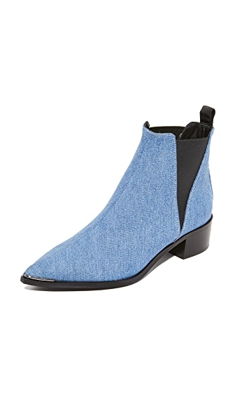 Acne Studios Jensen Denim Booties In Blue