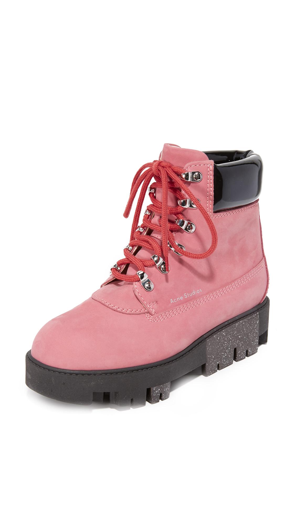 Acne Studios Telde Hiking Booties - Pink