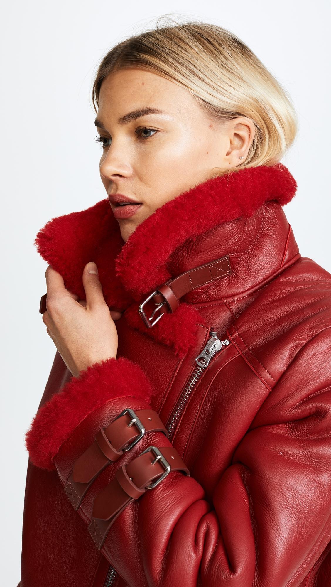 Байкерская куртка Velocite из короткой шерсти Acne Studios Shearling Moto Jacket  (ACNDB3063112010189)