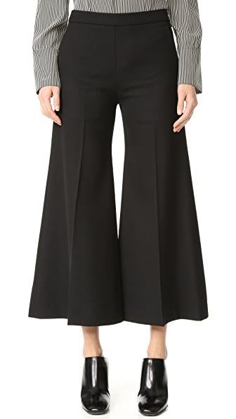 Acne Studios Isa Struct Crop Flare Pants - Black