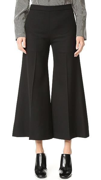 Acne Studios Укороченные расклешенные брюки Isa Struct