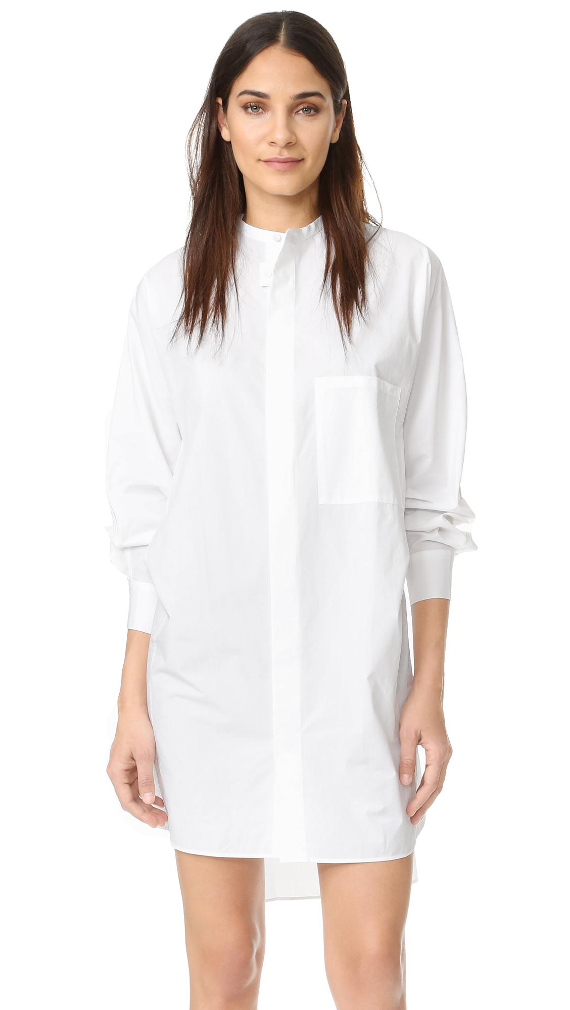 Acne Studios Siva Soft Poplin Dress - White at Shopbop