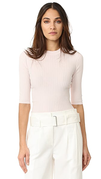 Acne Studios Iza Rib 3/4 Sleeve Sweater - Pale Pink