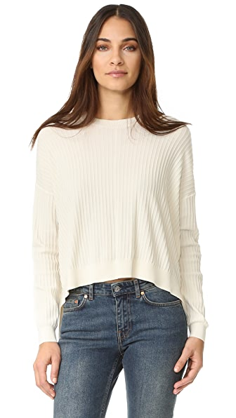 Acne Studios Issy Rib Sweater In Off White