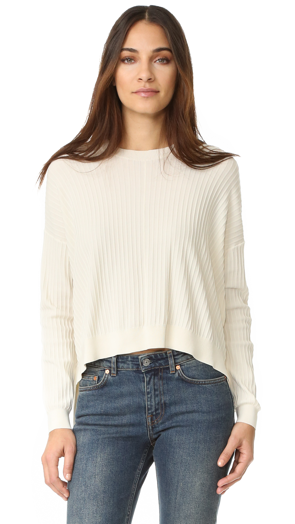 Acne Studios Issy Rib Sweater - Off White