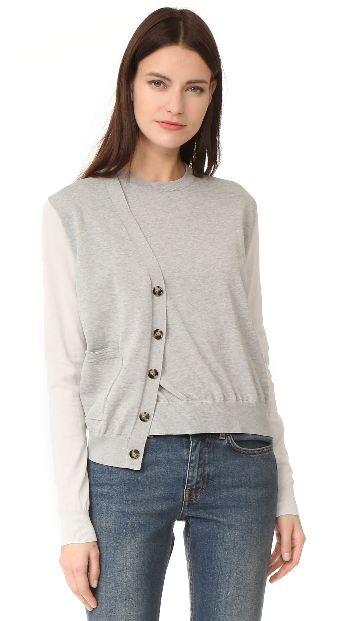 Acne Studios Kashi Sweater - Light Grey Melange at Shopbop