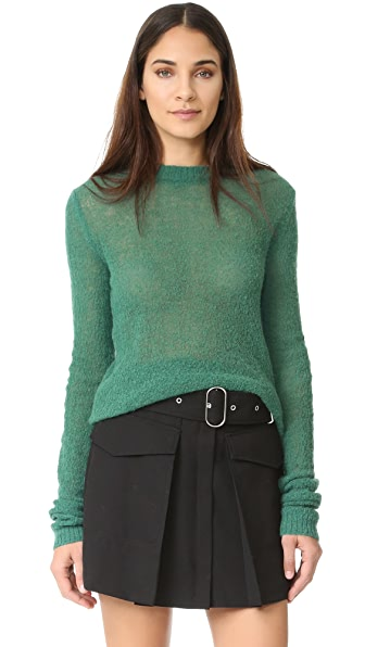 Acne Studios Trixie Alpaca Sweater - Forest Green