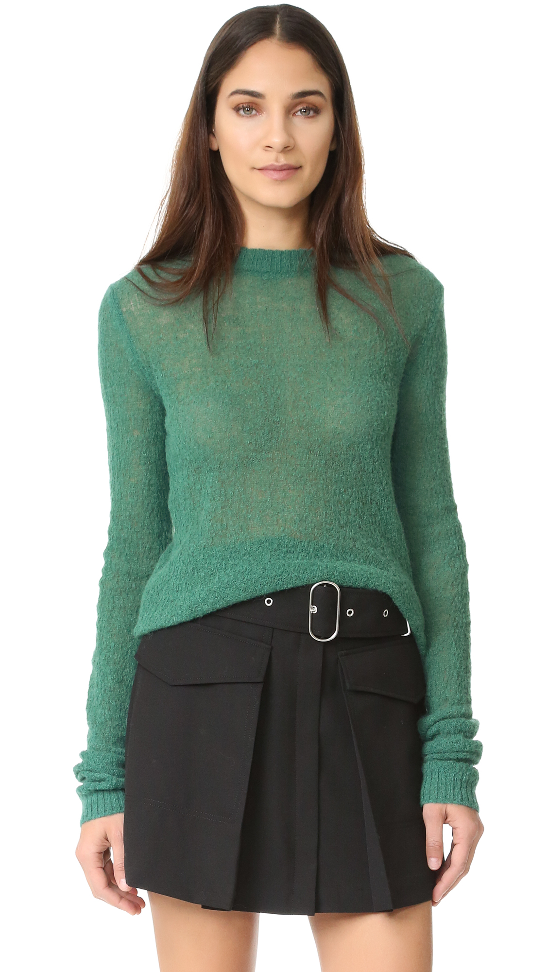 Acne Studios Trixie Alpaca Sweater - Forest Green at Shopbop