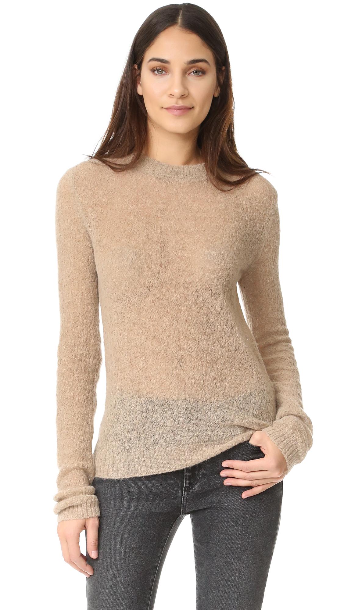 Acne Studios Trixie Alpaca Sweater - Sand Beige at Shopbop
