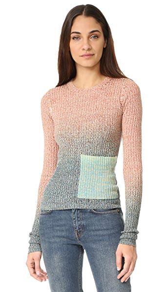 Acne Studios Rasha Mouline Sweater - Turquoise/ Orange