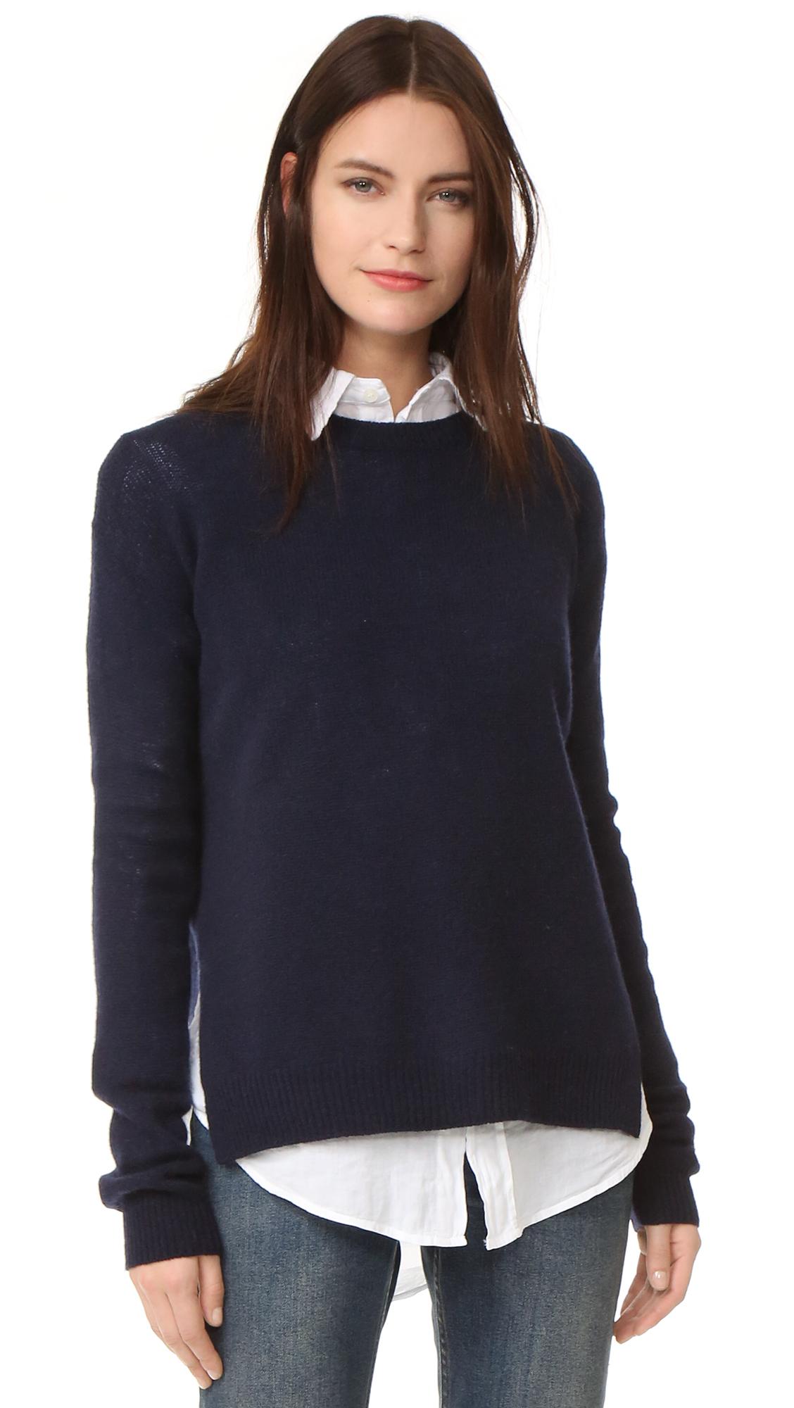 Acne Studios Deniz Wool Sweater - Navy at Shopbop