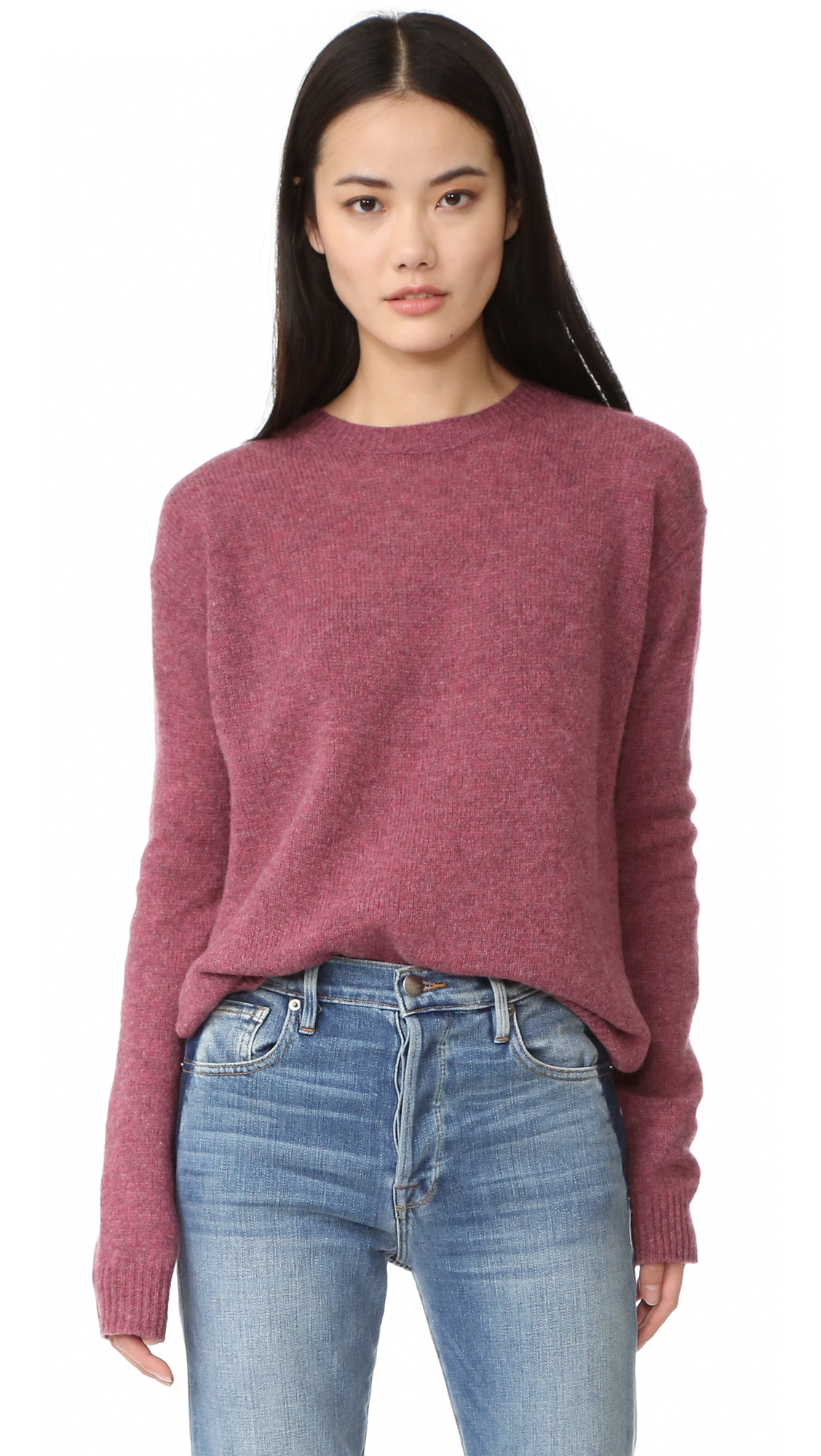 Acne Studios Deniz Wool Sweater - Pink Melange at Shopbop
