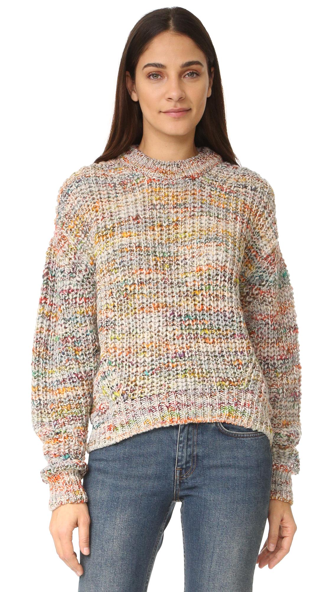 Acne Studios Zora Multi Sweater - White Mix at Shopbop