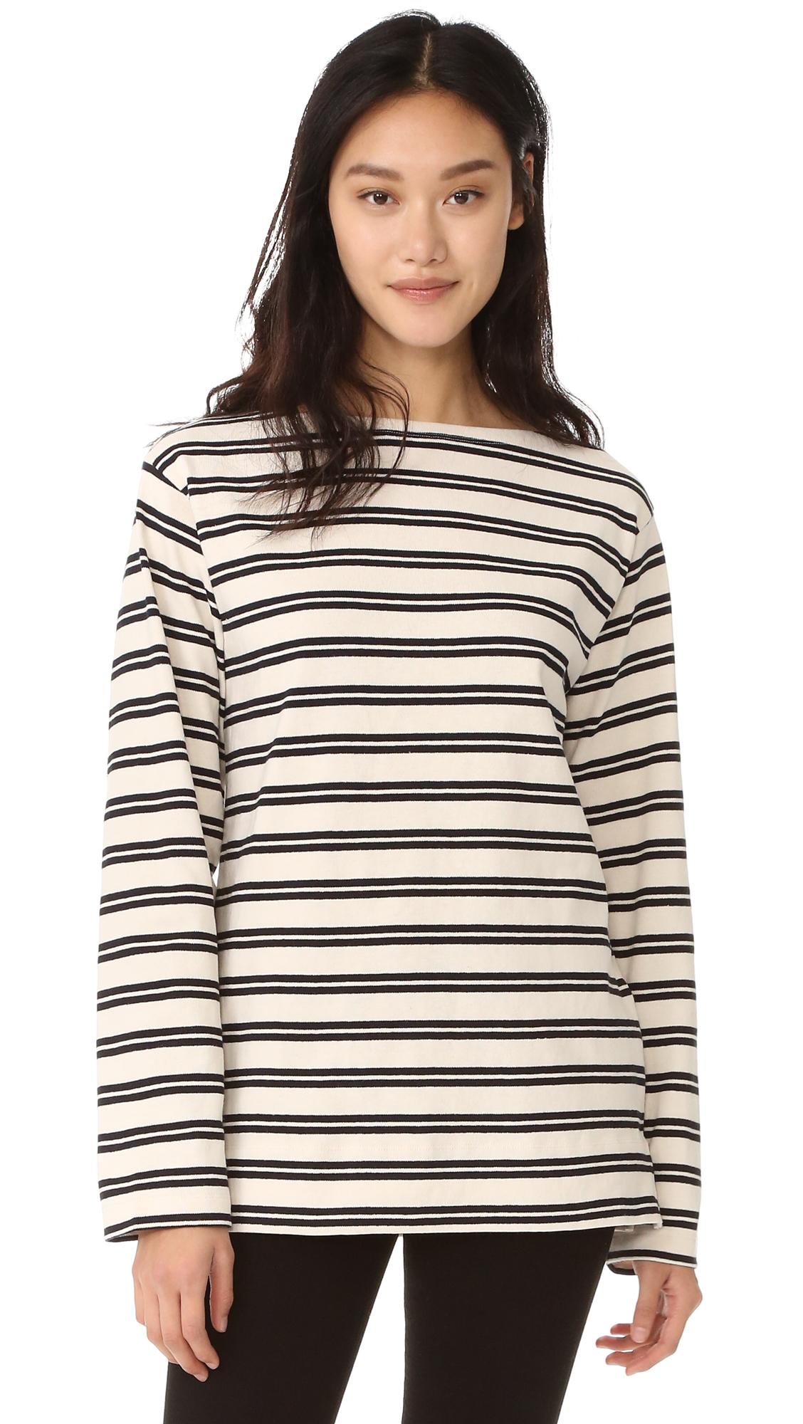 Acne Studios Davana Stripes Sweater - Ecru White/Navy at Shopbop
