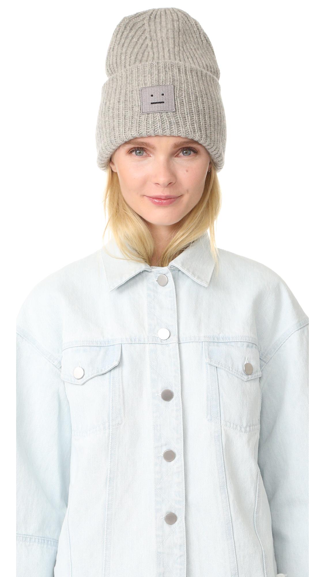Acne Studios Pansy Wool Hat - Silver Melange at Shopbop