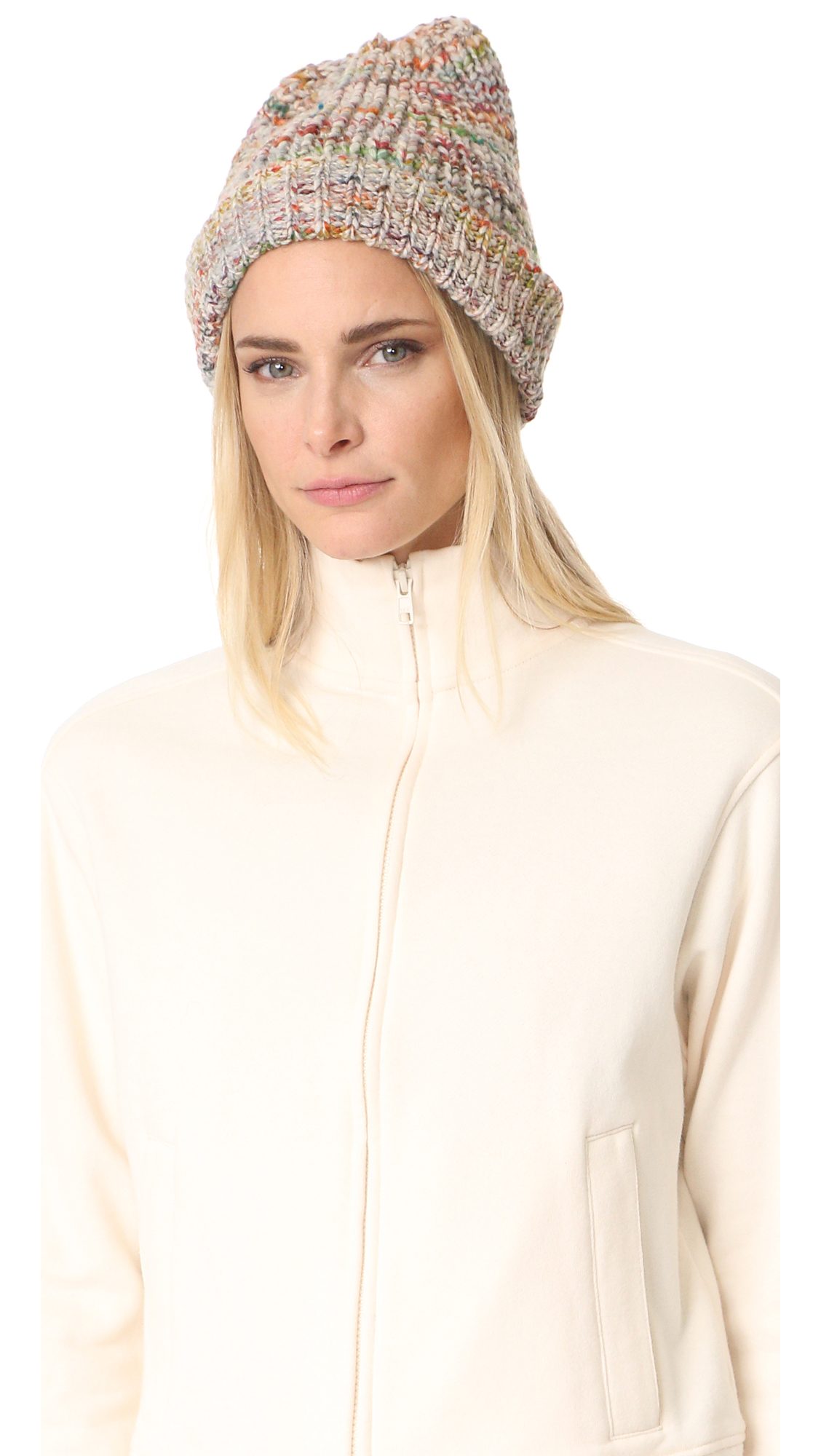 Acne Studios Zefir Multicolor Hat - White Multi at Shopbop