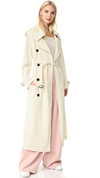 Acne Studios Lucie Trench Coat - Ivory White