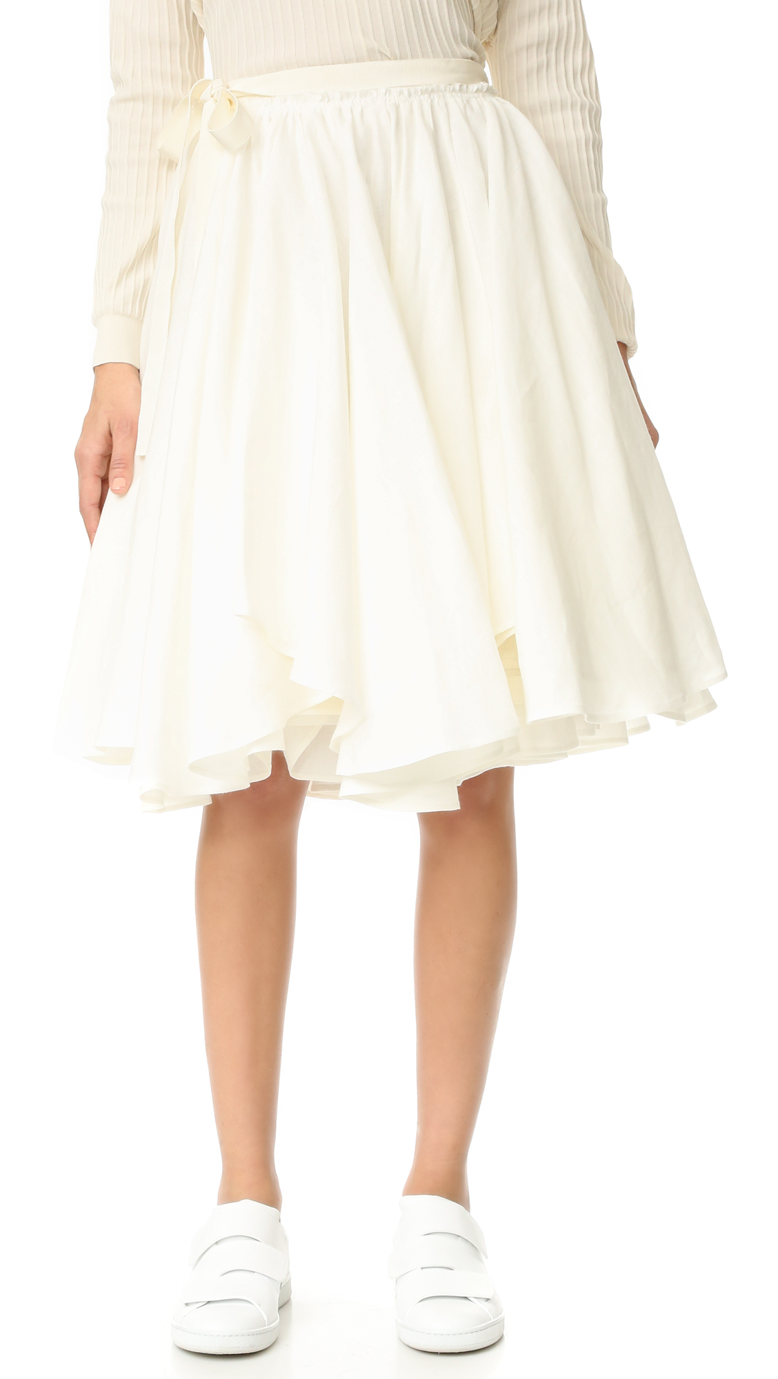 Acne Studios Petticoat Skirt - Ivory White at Shopbop