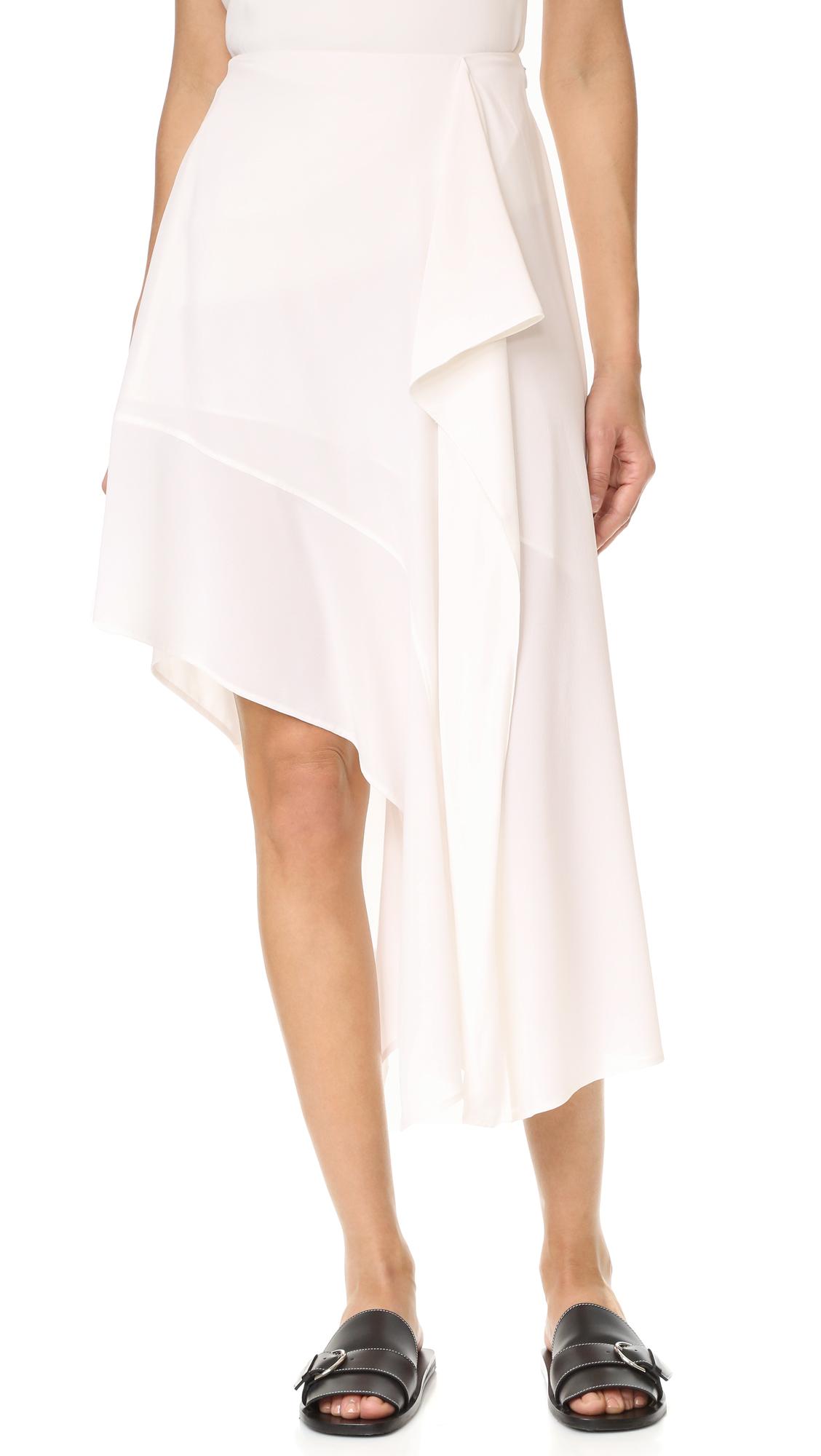Acne Studios Pamsan Asymmetrical Skirt - Ivory White at Shopbop